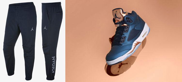 Air Jordan 5 u0026quot;Bronzeu0026quot; x Air Jordan 5 Pants | SneakerFits.com