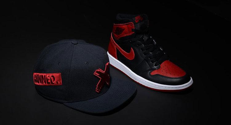 Air Jordan 1 Banned Bred Snapback Hat  0a2fecec2e8