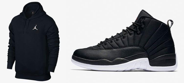 jordan-12-black-neoprene-nylon-hoodie