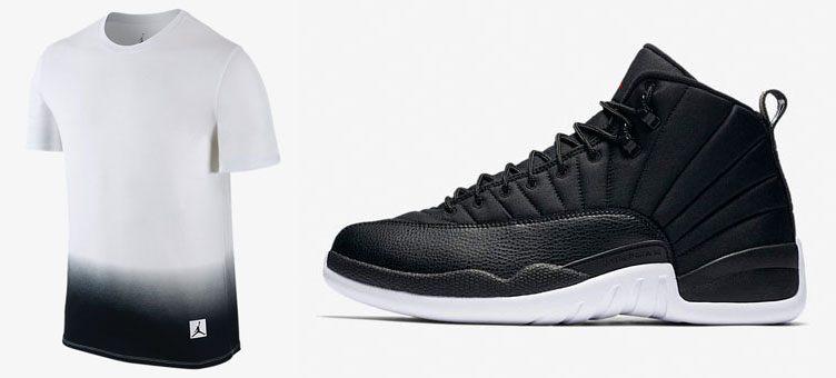 jordan-12-neoprene-black-white-shirt