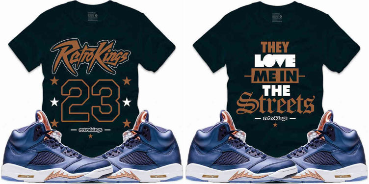 Ai Jordan 5 Bronze Sneaker T Shirts Retro Kings | SneakerFits.com