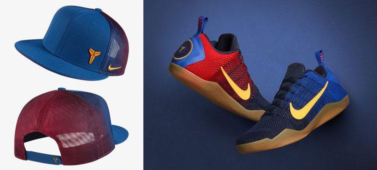 """2cc4250e343f Nike Kobe 11 Elite Low """"Mambacurial"""" x Nike Kobe True 1 Snapback Hat"""