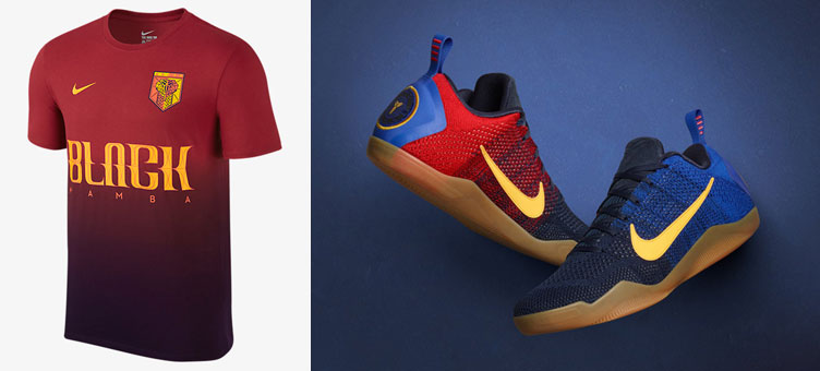 3cd2c844174 Nike Kobe 11 Mambacurial Barcelona Shirt