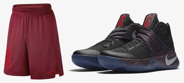 da084258d1a1 Nike Kyrie 2 Black Crimson Speckle Shorts