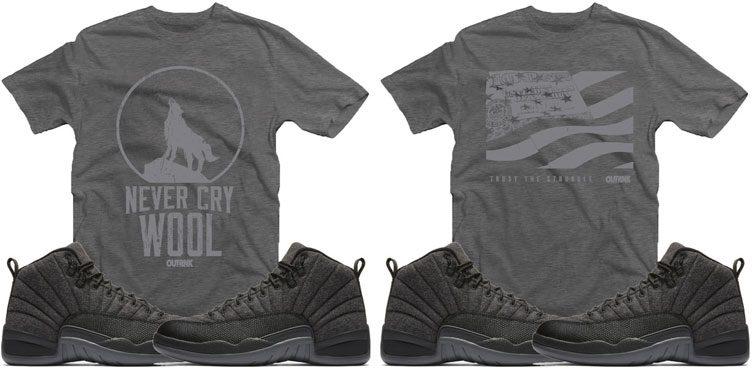 aaed29b49737 OutRank Sneaker Shirts to Match the Air Jordan 12 Retro Wool