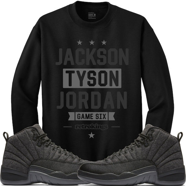 2d7ce06c9e3721 crewnecks match jordan 12 dark grey rufnek clothing fleece