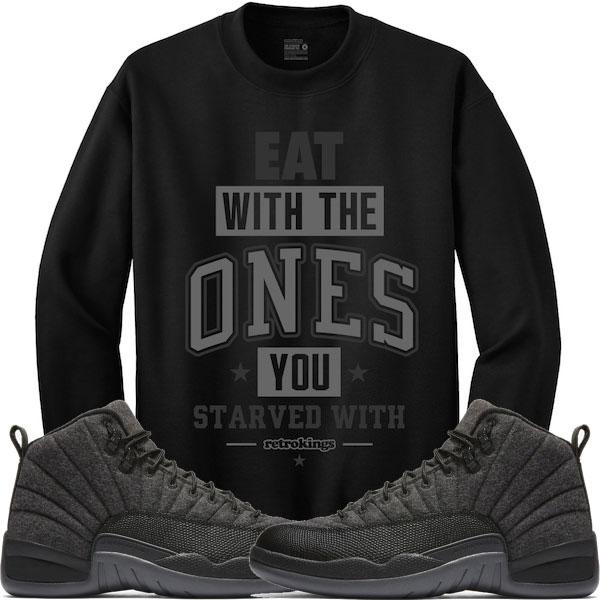 sale retailer 9a2b7 633f0 jordan-12-wool-sneaker-sweat-shirt-retro-kings-