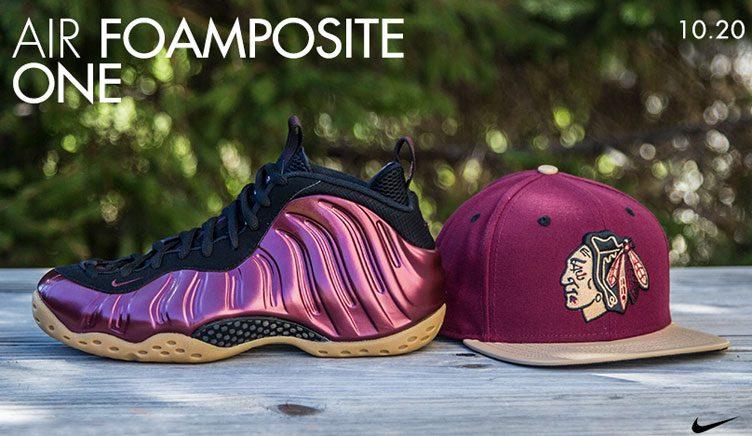 maroon-foamposite-snapback-hat