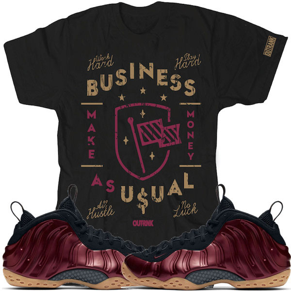 385e516478fa Maroon Foamposites Sneaker Tees by OutRank