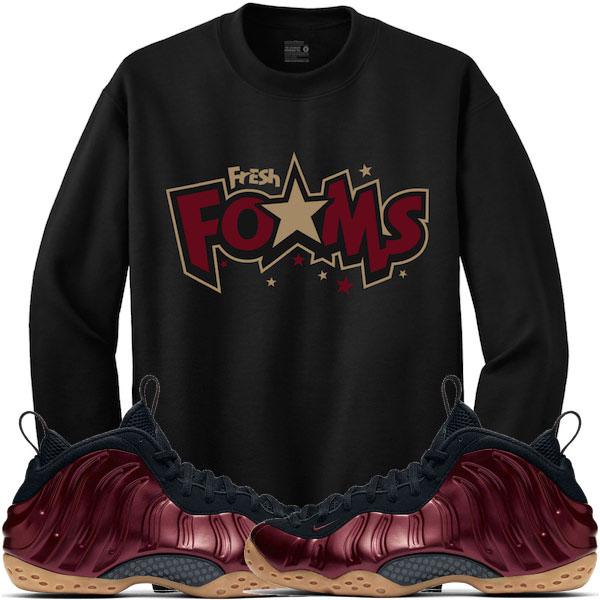2d8016246b5 Maroon Foamposites Sneaker Sweat Shirts by Retro Kings