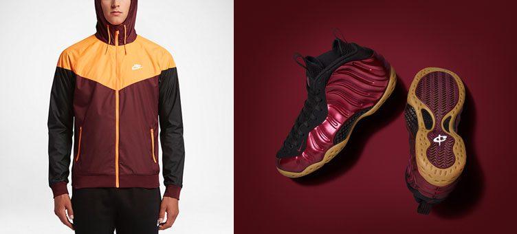 """36c1b980d1248 Nike Air Foamposite One """"Night Maroon"""" x Nike Sportswear Windrunner Jacket"""