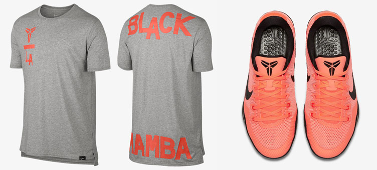 super popular ed24e 2e78f Nike Kobe 11 Bright Mango Shirt | SneakerFits.com