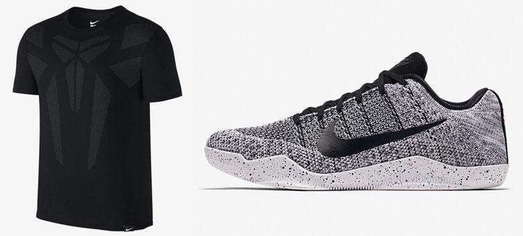 sports shoes b4bc5 4fbf8 Nike Kobe 11 Elite Oreo Tee | SneakerFits.com