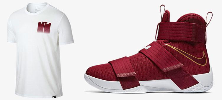 2fe10b37e493 Nike LeBron Soldier 10 Christ the King Shirt