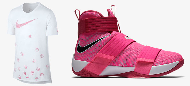 cheap for discount 57349 84a2c Nike LeBron Soldier 10 Kay Yow Shoes and Shirt   SneakerFits.com
