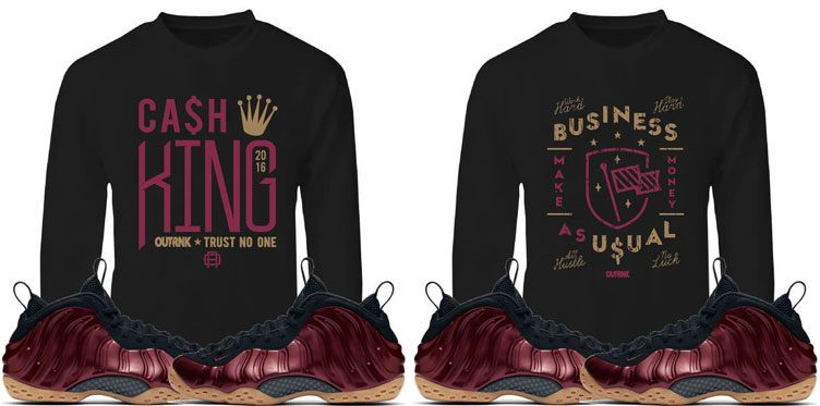 """0952e472761 OutRank Sweatshirts to Match the Nike Air Foamposite One """"Night Maroon"""""""