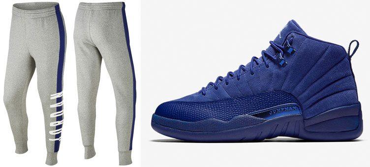 air-jordan-12-blue-suede-pants