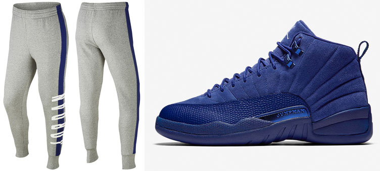 b48f3ec6dc3c Air Jordan 12 Royal Blue Suede Pants