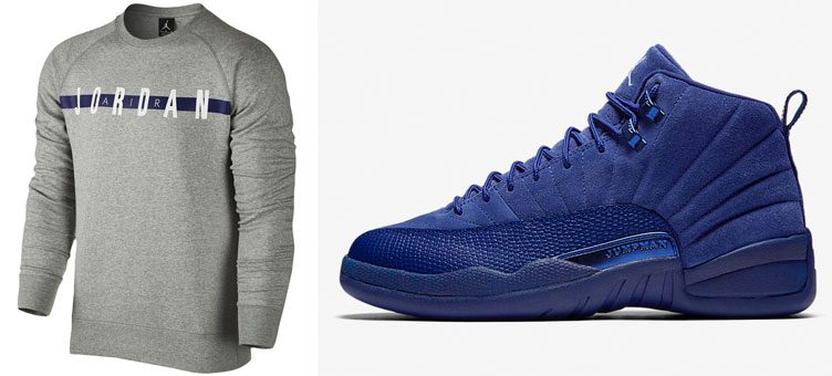 "Air Jordan 12 ""Blue Suede"" x Jordan Graphic Crew Sweatshirt"