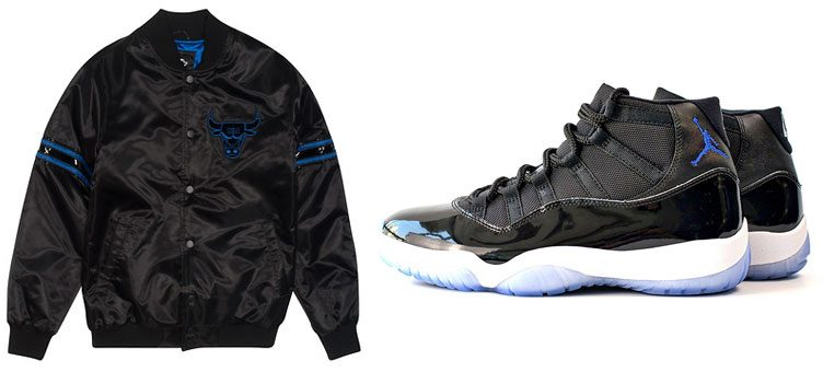 "Starter Chicago Bulls NBA Jacket to Match the Air Jordan 11 ""Space Jam"""