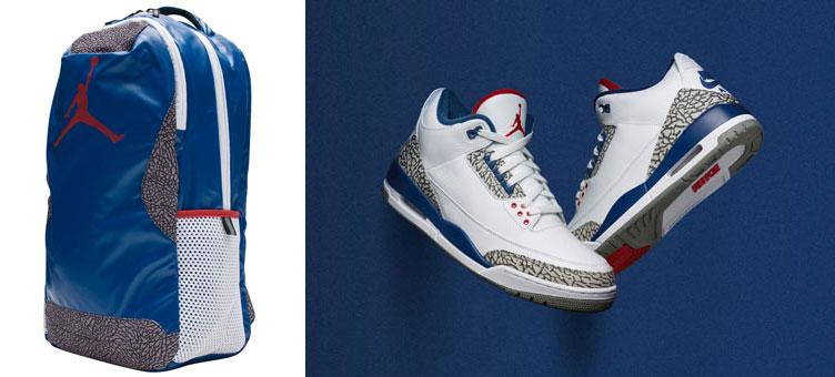 Air Jordan 3 True Blue Backpack  38a512fce8814