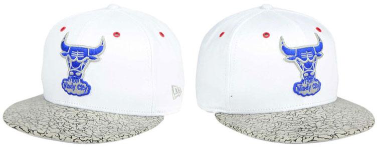1f44b0e69f6 Jordan 3 True Blue New Era Bulls Hats | SneakerFits.com
