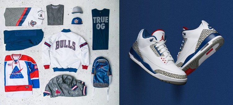 "Air Jordan 3 ""True Blue"" Sneaker Match Apparel Hook-Ups Available at Jimmy Jazz"