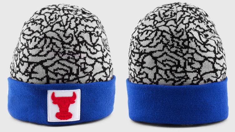 582c30b4158 Air Jordan 3 True Blue New Era Bulls Knit Hat Beanie | SneakerFits.com