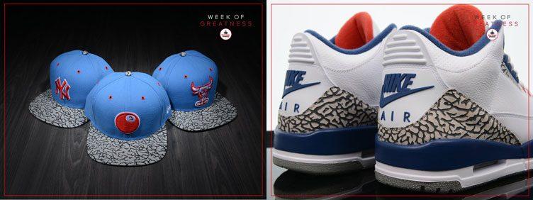 """New Era True Blue 3 Sneaker Hook Hats to Match the Air Jordan 3 """"True Blue"""""""