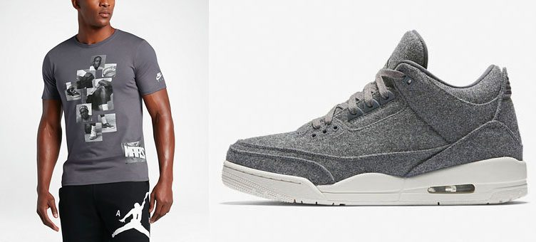 "Air Jordan 3 Shirts to Match the Air Jordan 3 ""Grey Wool"""