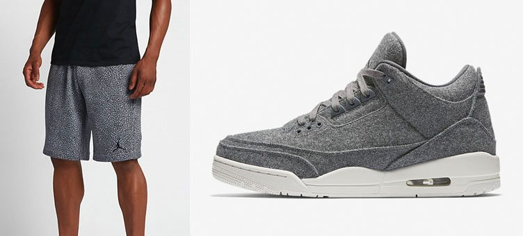 "Air Jordan 3 ""Grey Wool"" x Air Jordan 3 Fleece Shorts"