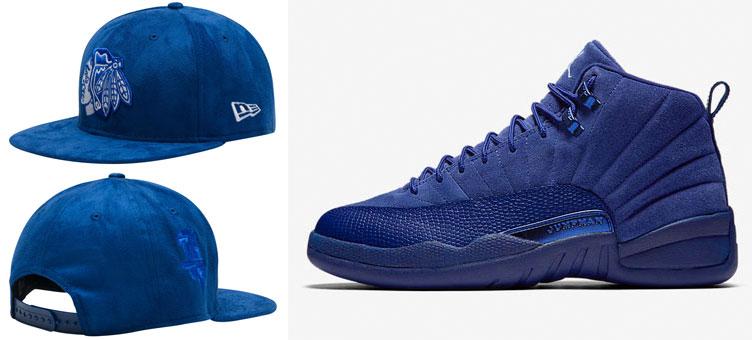 f7a1c4e1d43 Jordan 12 Blue Suede New Era Chicago Hat