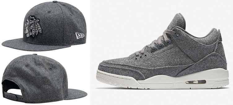9e413efb1c7 Jordan 3 Grey Wool Chicago New Era Hat   SneakerFits.com