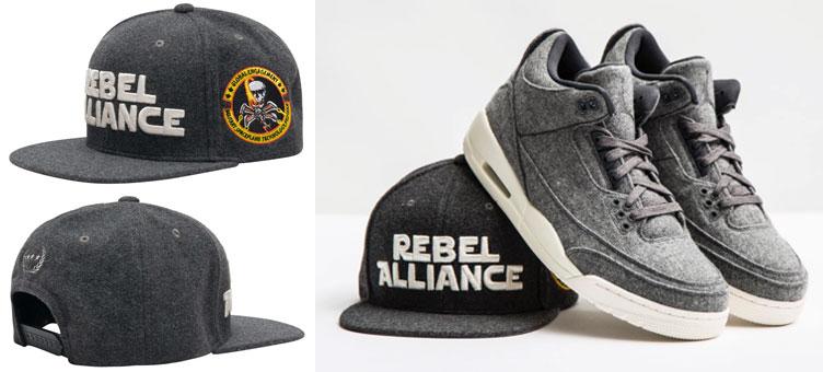 2aac95f077e Jordan 3 Wool Field Grade Snapback Hat   SneakerFits.com