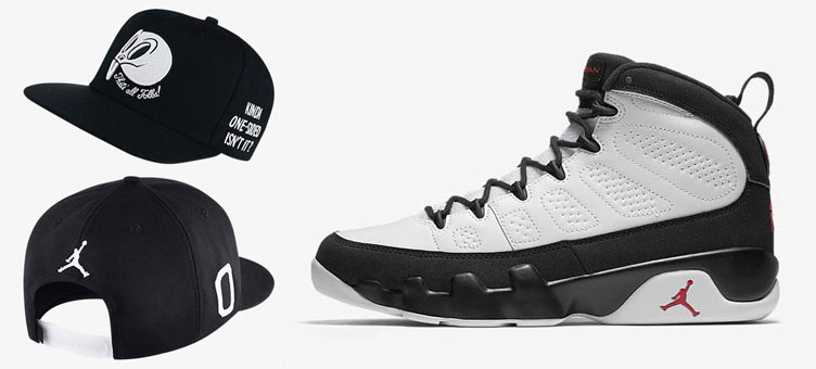 b24800bd371b Air Jordan 9 Space Jam Snapback Hat