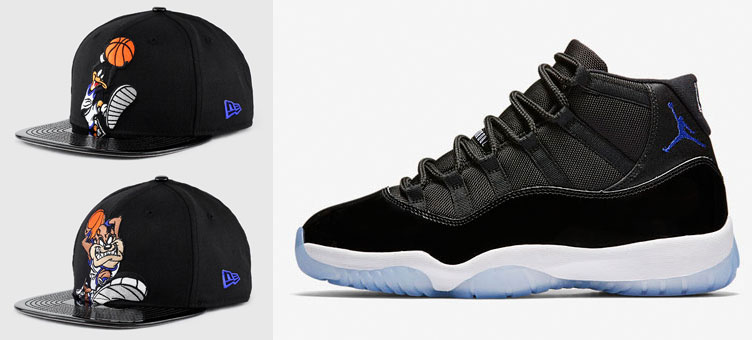 d7b53d85ad6244 Space Jam Jordan 11 Looney Tunes Hats