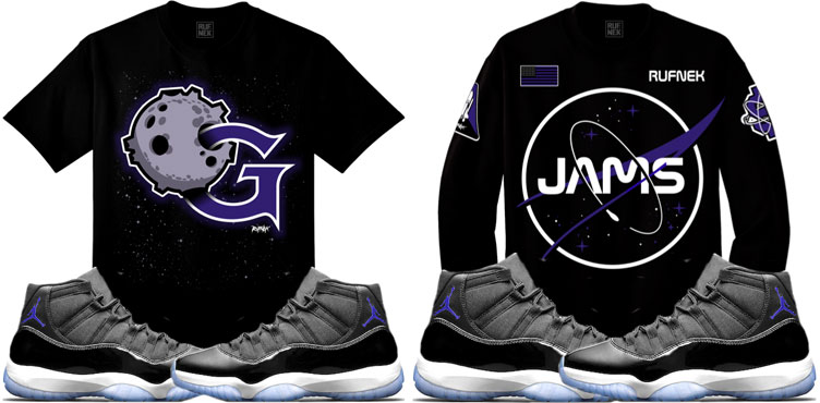 d34782a90e1ee7 Space Jam Jordan 11 Sneaker Match Shirts by Original RUFNEK ...