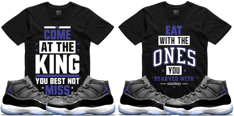 "size 40 a3c5f 4dcdf Retro Kings Sneaker Tees to Match the Air Jordan 11 ""Space Jam"""