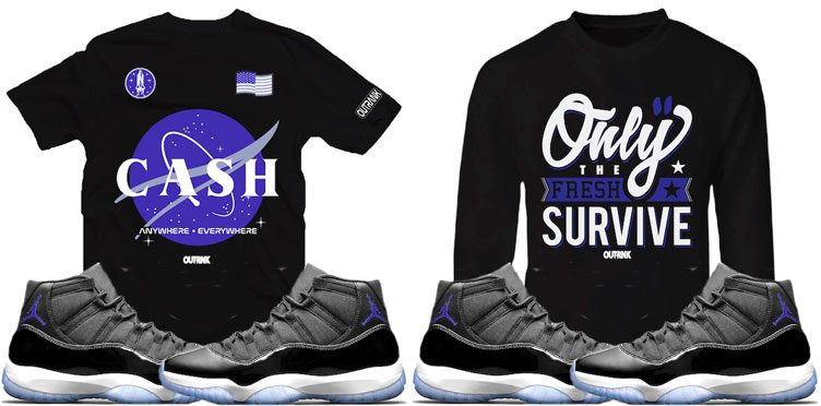 "96cade2baea OutRank Sneaker Shirts to Match the Air Jordan 11 ""Space Jam"""