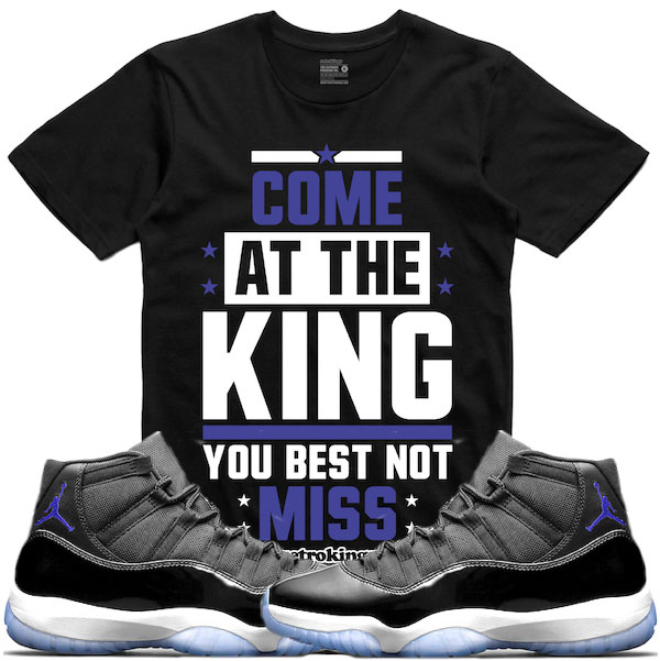 4030c272c4e8f5 Space Jam Jordan 11 Sneaker Tees by Retro Kings