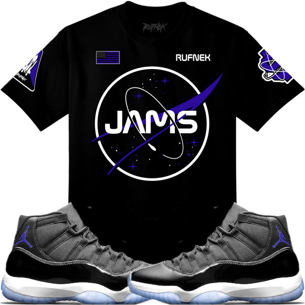0746d6d4784b Space Jam Jordan 11 Sneaker Match Shirts by Original RUFNEK ...
