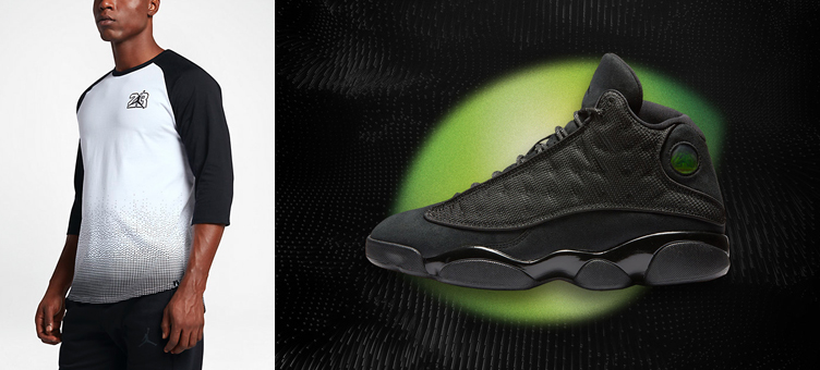 7453eb75d66c Air Jordan 13 Black Cat Raglan Top