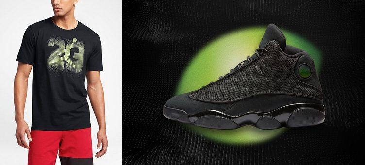 """Air Jordan 13 """"Black Cat"""" x Jordan AJ 13 Elevated T-Shirt"""
