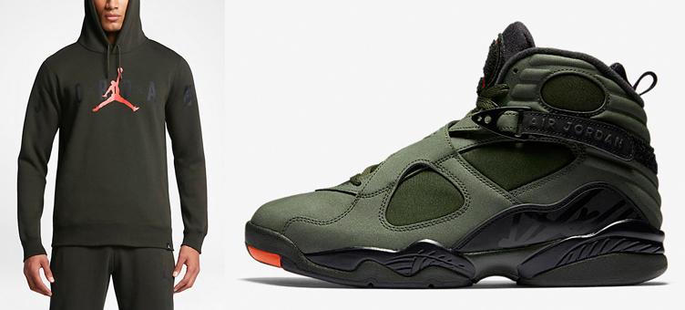 0ff21f4b0ee Jordan 8 Take Flight Sequoia Hoodie   SneakerFits.com