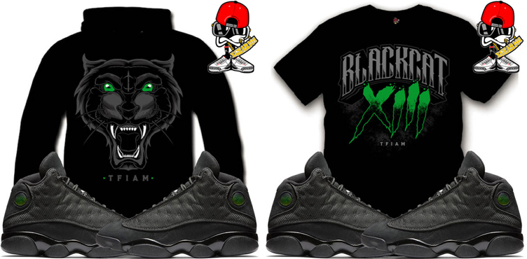 6497ba3cee58 Sneaker Shirts to Match Air Jordan 13 Black Cat