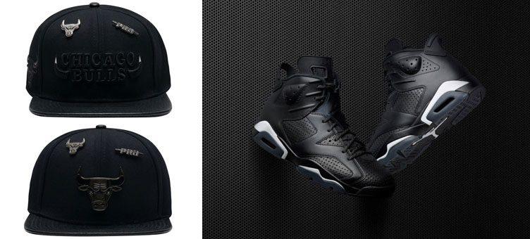 jordan-6-black-cat-pro-standard-bulls-hats