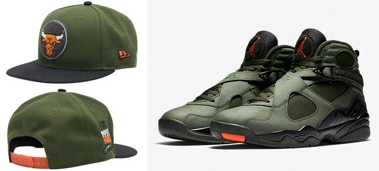"New Era Chicago Bulls Snapback Hat to Match the Air Jordan 8 ""Take Flight"""