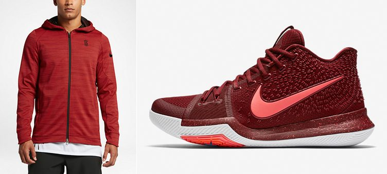 "Nike Kyrie 3 ""Warning"" x Nike Kyrie Therma Hyper Elite Basketball Hoodie"