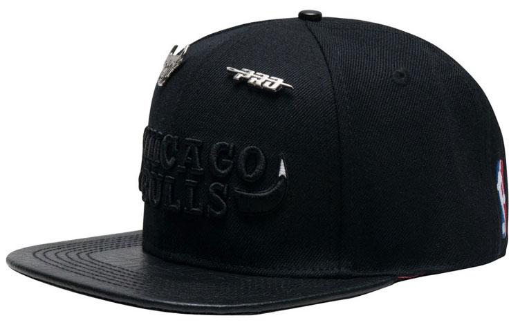 8dc192cfbbf Pro Standard Bulls Hats to Match Air Jordan 6 Black Cat ...