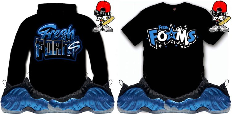 "new concept 91819 756a3 ... Sneaker Tees and Sweatshirts to Match the Nike Air Foamposite One  ""Royal"" ..."